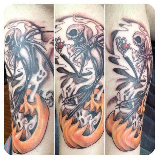 35 totally magical disney tattoos neatorama for Jack the pumpkin king tattoo