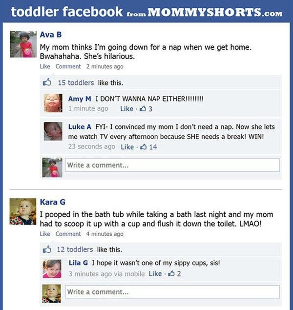 If Toddlers Could Post On Facebook