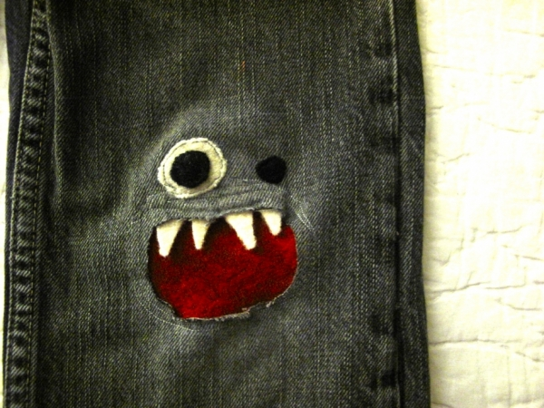 monster jeans patch