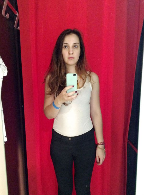 Girl Takes Pictures In Different Dressing Rooms