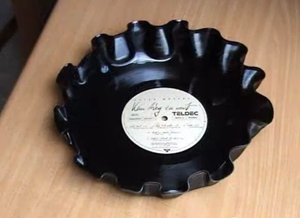 How To Make A Serving Dish From A Vinyl Record Neatorama