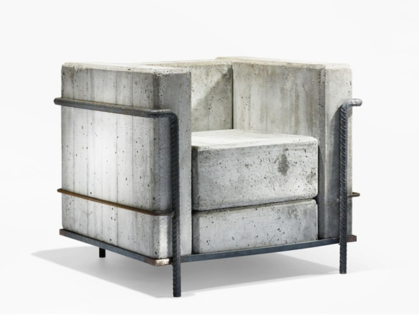 Good Swiss Designer Stefan Zwicky Re Created The Iconic LC2 Armchair By Le  Corbusier With Rebar And Concrete.