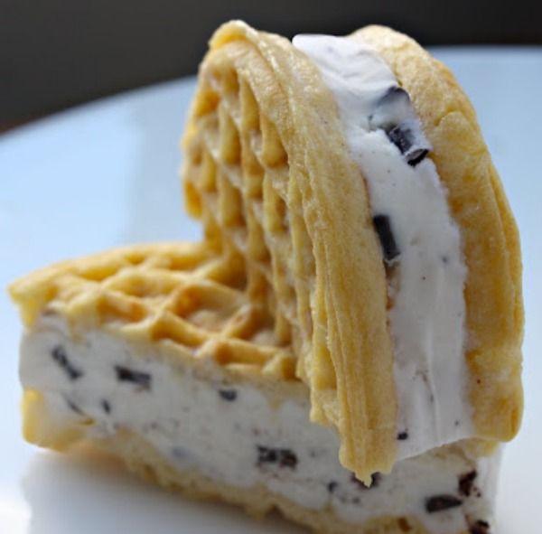 Eggo waffle sandwiches