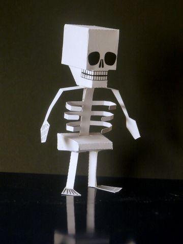 Как из картона сделать скелета