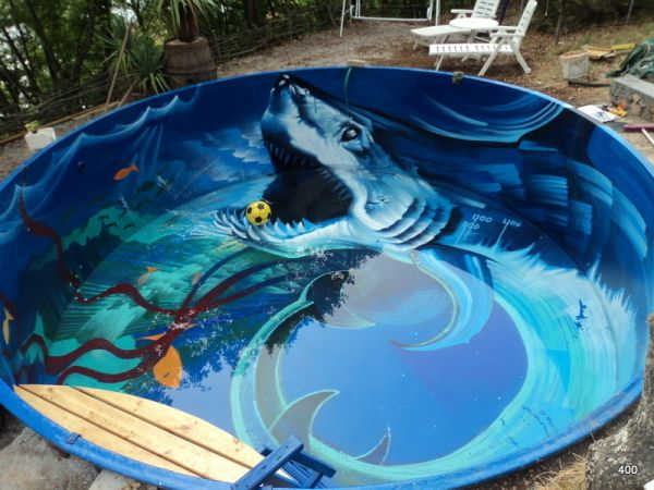Shark In The Pool Neatorama