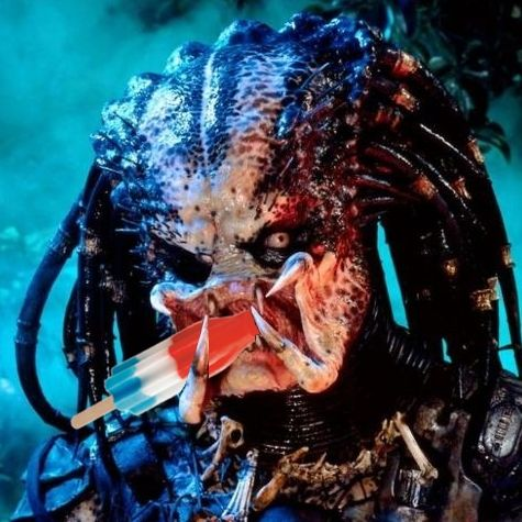 Predator with a popsicle
