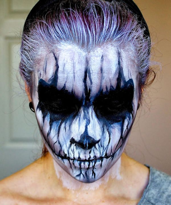 faces of fright scary halloween makeup - Scary Faces For Halloween With Makeup