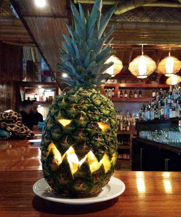 and unlike many new additions to the holiday carved pineapples look traditional enough to fit in with the rest of your halloween decorations