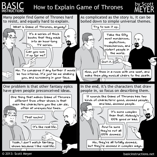 Basic Instructions explains Game of Thrones