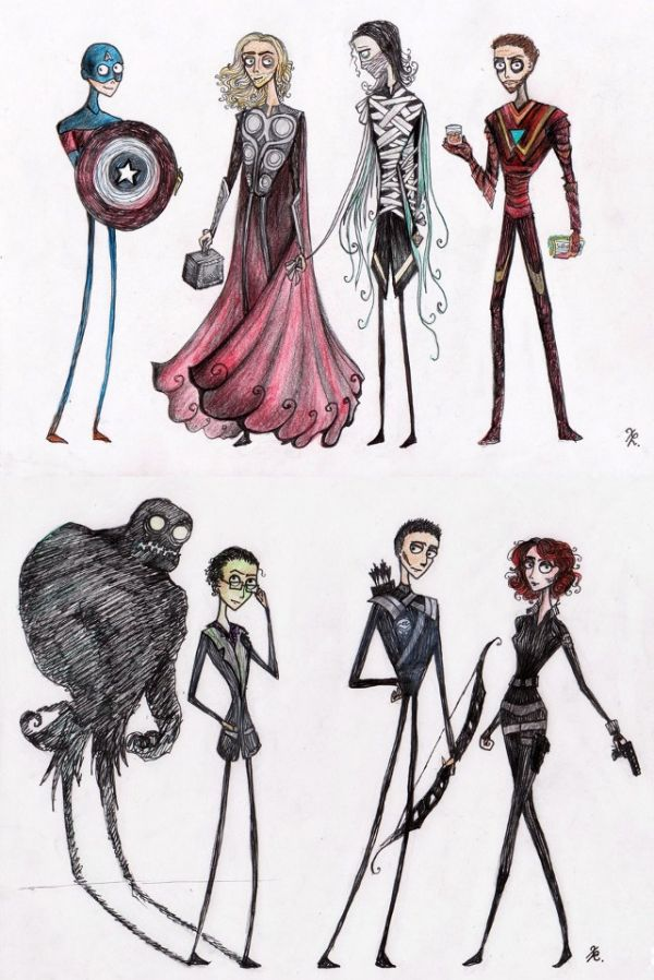 Tim Burton Drawing Style WeSharePics