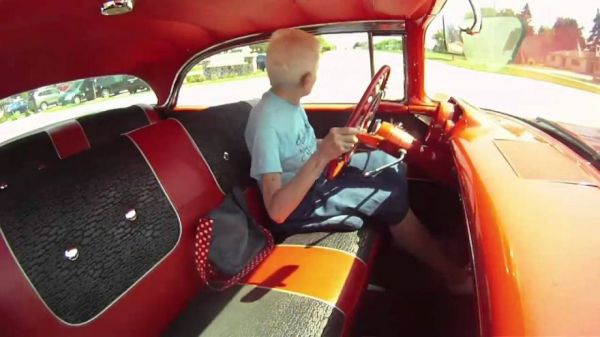 Woman Shows Off Her '57 Chevy, The First And Only Car She Has Ever Bought