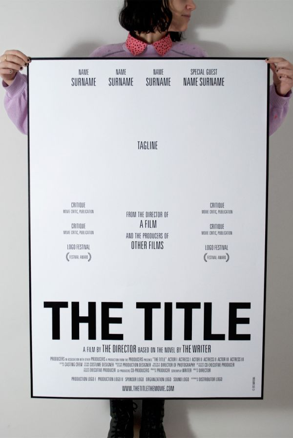 movie poster template free