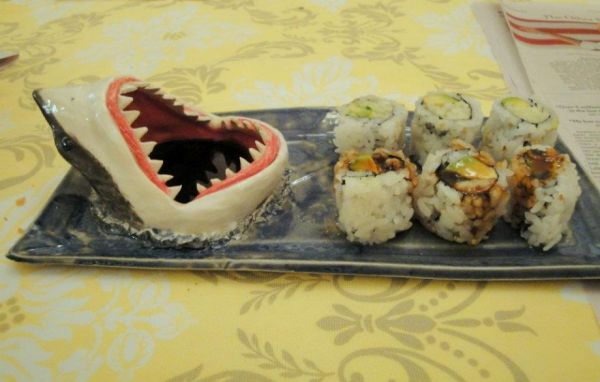 shark sushi plate