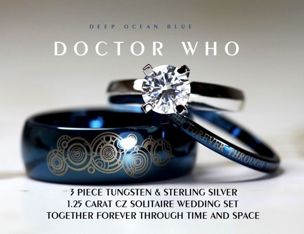 Doctor who wedding rings neatorama for Doctor who themed wedding dresses