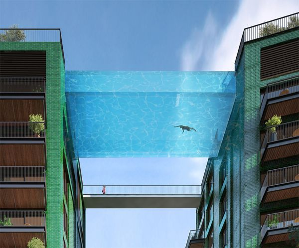 This Glass Bottomed Pool Will Bridge 2 Buildings Neatorama