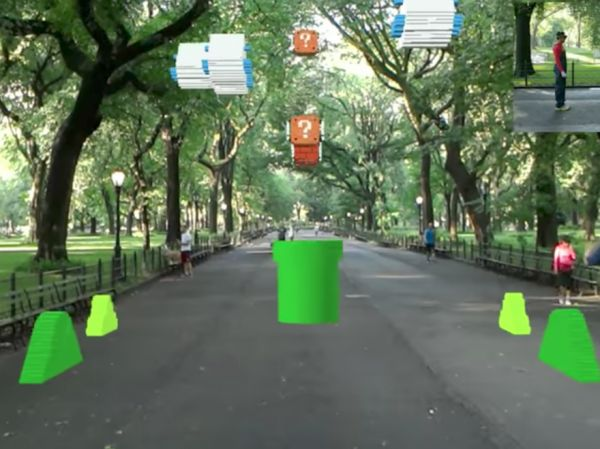 World 1-1 From Super Mario Bros. Recreated As First Person Augmented Reality Game