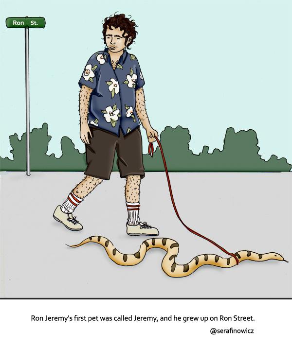 ron jeremys pet python