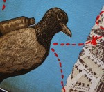carrier pigeon painting by Christina Lovering