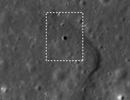 Hole on lunar surface