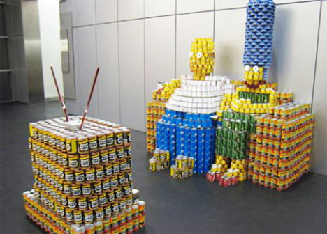 Canstructions-Simpsons