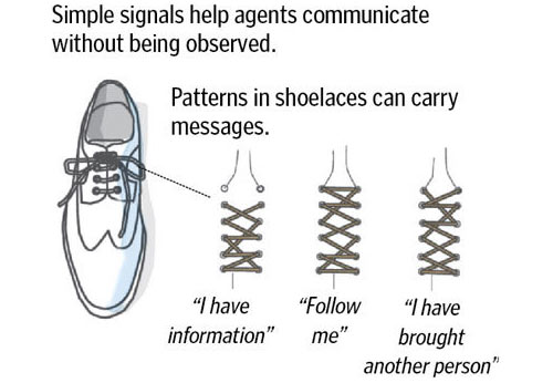 CIA shoelaces