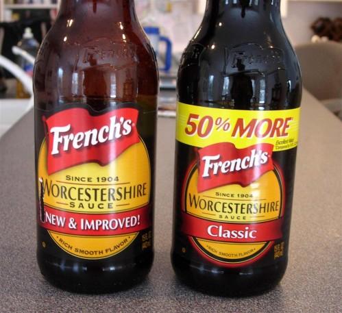 Worcestershire sauce bottles