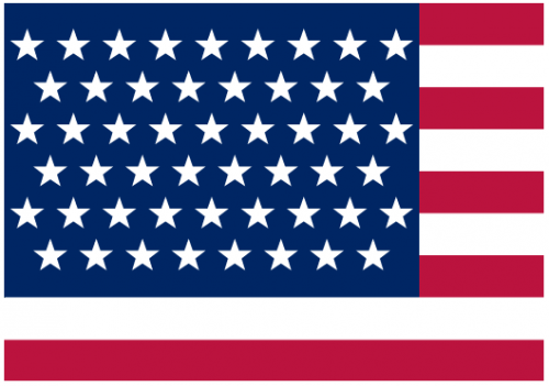 Mathematical star placement on the us flag neatorama for Proper placement of american flag