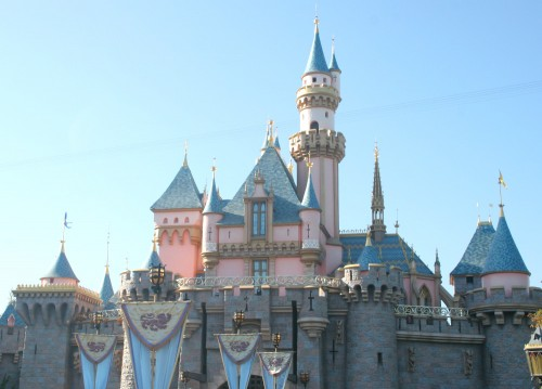 disneyland logo castle. Sleeping Beauty Castle may not