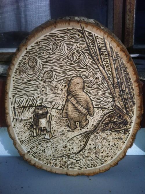 Wookiee The Chew In Burned Wood Neatorama
