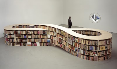 While Job Koelewijn's infinity-sign-shaped bookcase won't actually hold an  infinite number of books, it does hold a lot. Aside from looking cool, ...