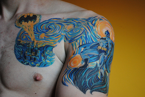 fashion fail - starry night batman