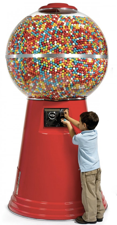 Giant Gumball Machine Or A Normal Gumball Machine And A
