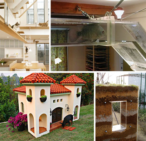 Some seriously cool animal houses toys neatorama for House plans with pet rooms