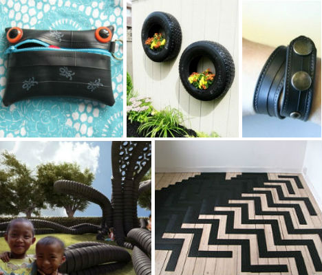 25 cool items made from recycled tires neatorama for Cool recycled stuff