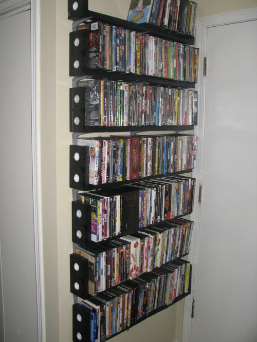 Dvd Rack Made From Vhs Cassettes Neatorama