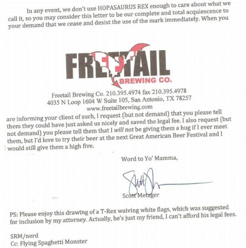 Hilarious Response to Cease and Desist Letter - Neatorama
