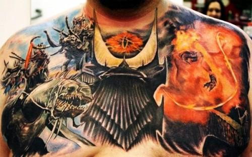 SdA torse tattoo