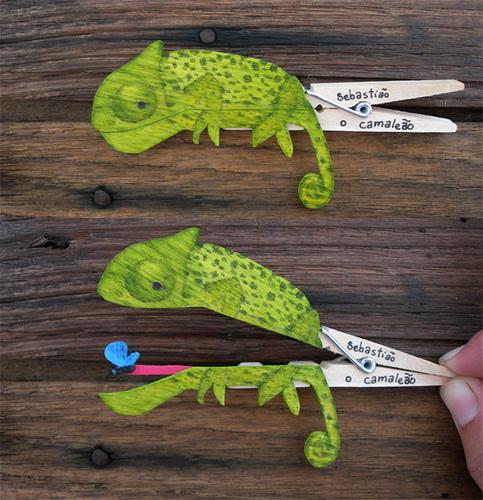 Своими руками как сделать хамелеон