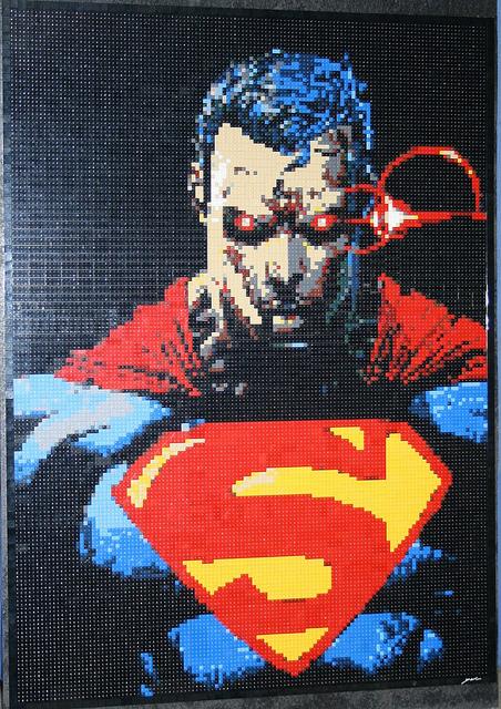 wesome LEGO Superman Mosaic图片