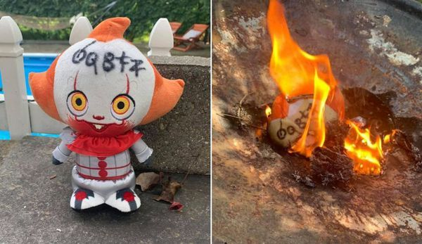 Woman Finds a Pennywise Toy in Her Yard and, to Stay Safe, Burns It and Sleeps with a Knife