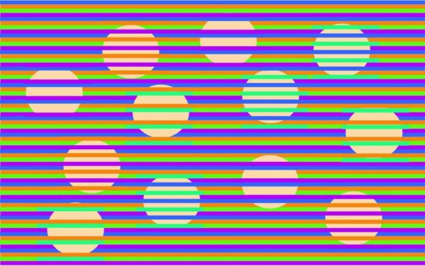 Every Circle In This Image Is The Same Color