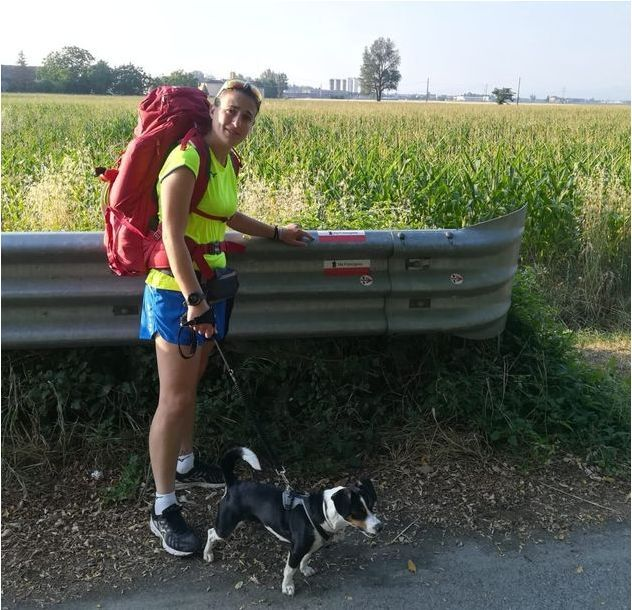 A Woman Walks Her Dog Across Italy For Violence Against Women Awareness