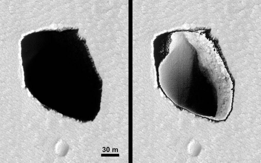 There Are Strange Deep Holes On Mars