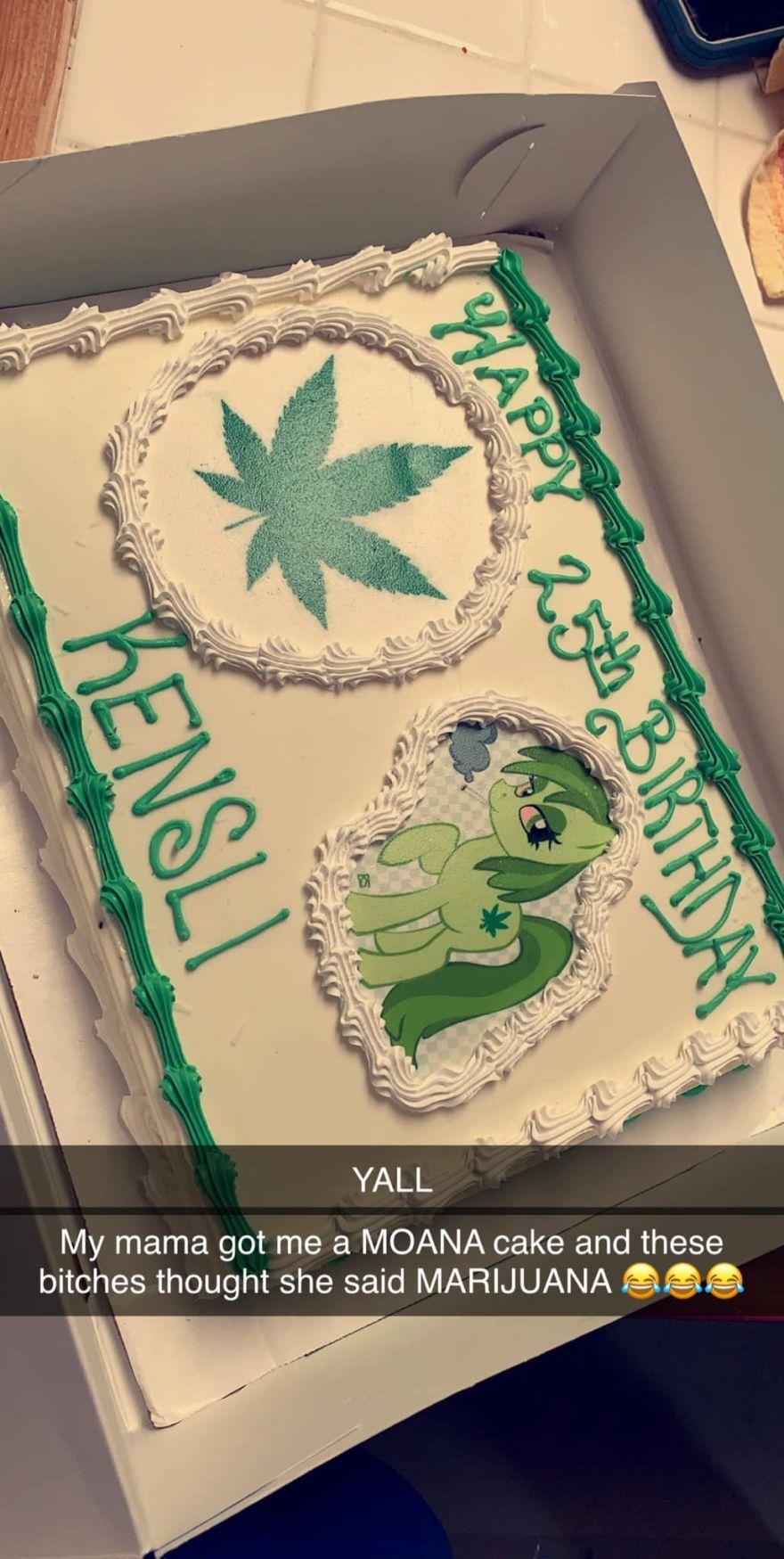 Birthday Girl Orders Moana Cake But Receives A Marijuana