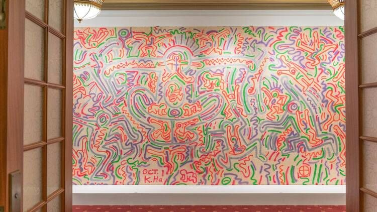 Never Before Seen Keith Haring Mural Unveiled In New York City