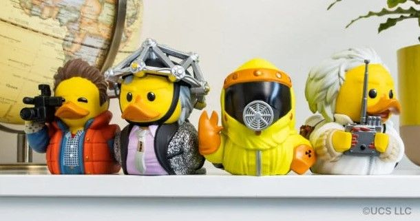 Rubber Duckie Figures Based On Back To The Future