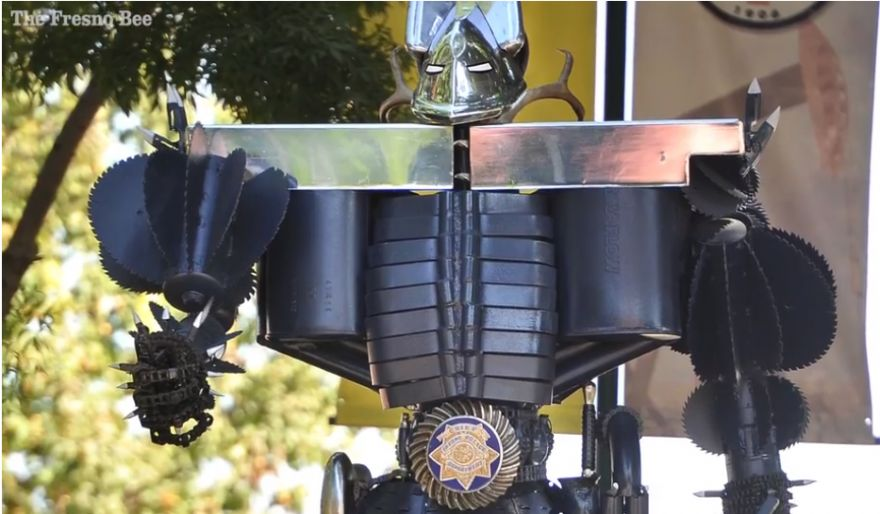 Retiring Fresno Police Chief Honored with Super Hero Sculpture