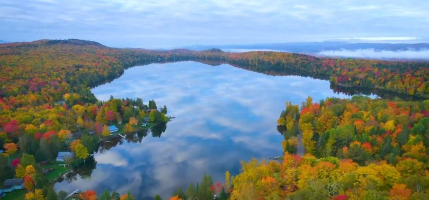Drone Footage Captures The Beautiful Colors Of Fall In Northern Vermont
