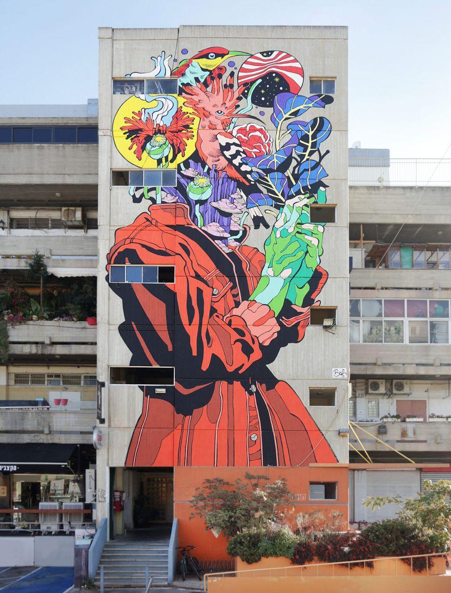 Brazilian Pop Culture Shines In These Vibrant Murals In Jerusalem