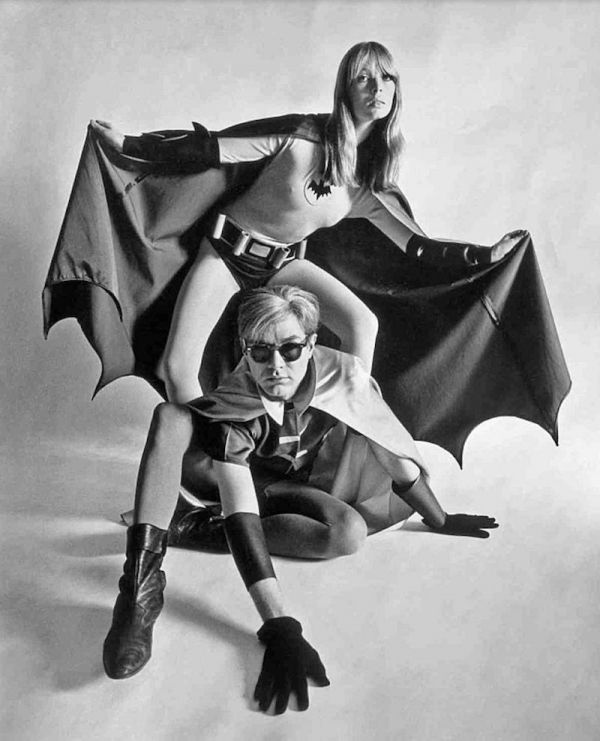 Andy Warhol And Nico As Batman And Robin